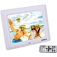 Andoer cadre photo numérique 7 pouces, cadre TFT LCD 480*800 avec télécommande comme MP3 MP4 calendrier