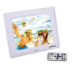 Idea Regalo - Cornice Foto Digitali Andoer 7 '' HD TFT-LCD con  Musica e Film MP3 / MP4 / Calendario / Sveglia Regalo di Natale con Remote Desktop
