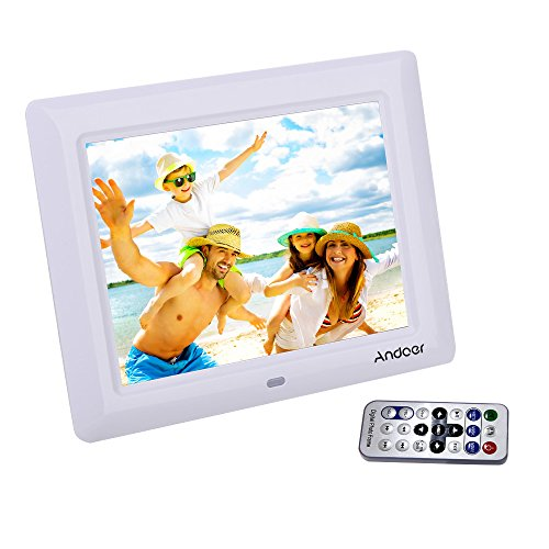 "Andoer 7"" HD TFT-LCD Digitaler Bilderrahmen mit Diashow Wecker MP3 MP4 Movie Player Remote Desktop"