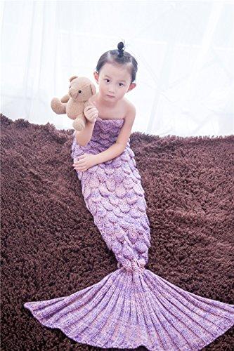 Decken, Kreative Nixeendstück Decke weich und warmer Schlafsack für Erwachsene und Kinder konzipiert sind wie ein Schlafsofa und warme Decken (Für Kind(140*70cm), dark pink)
