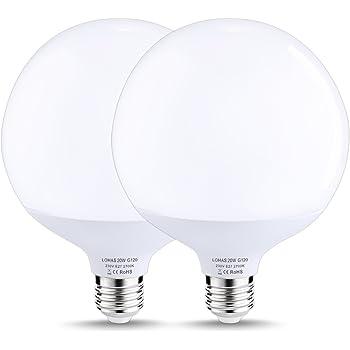 LOHAS Bombilla LED 20W globo E27 G120, Edison Base de Tornillo, Equivalente a 140W