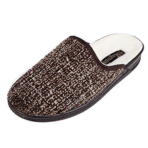 Magnus Herren Hausschuhe Badeschuhe (205C) Badelatschen Pantoffel Pantoletten Schuhe Neu Größe 44, Farbe Braun