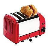 Dualit GD394Bremsscheiben Vario Toaster, 4, 120Scheiben schneiden/HR, 2,2kW, 200mm H x 280mm W x 310mm d, Rot