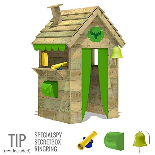 FATMOOSE Kinder-Spielhaus BeetleBox Bling XXL Spielhaus Garten Holz mit hoher Theke und Dach mit Schornstein - 3