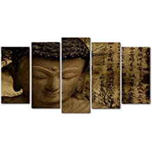 DekoArte 129 - Cuadro moderno, Buda Zen, 150 x 80 cm