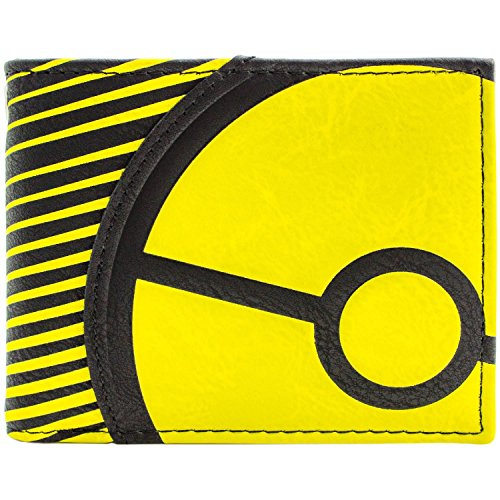 Pokemon Yellow Trainer Pokeball Striped Schwarz Portemonnaie Geldbörse