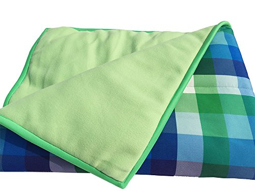 Wobbly Walk Checkered Blanket (Green)