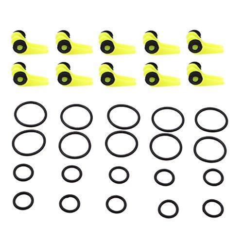Pinhan Kunststoff-Rut-Haken Angelköder Sicherheitshalter Outdoor Angeln Anker Tragbare Angelausrüstung Zubehör Werkzeug Angelrute Haken, Plastik, Fluoreszierendes gelb, As The Description