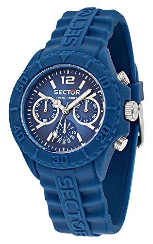Sector No Limits Sub Touch-Orologio da uomo al quarzo con Display analogico e cinturino in Silicone R3251580002, colore: blu