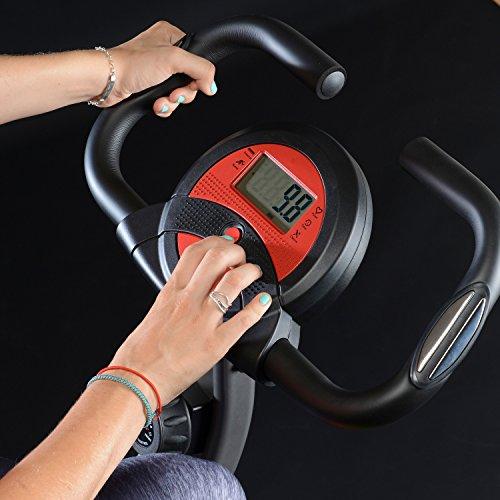 skandika Foldaway X-1000 Fitnessbike Heimtrainer klappbar mit Handpuls-Sensoren, 8-stufiger Magnetwiderstand, LCD Display ohne Rückenlehne - 4