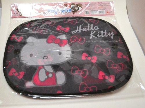 2Pcs Schwarz Hello Kitty Gesicht Auto Seite Fenster Sonne Schatten W/Saugnäpfe - Auto Shade Seite Fenster