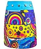 Sunsa Mädchen Rock Jeansrock Minirock Wickelrock Wenderock Sommerrock Mädchenrock aus Baumwolle, Größe ist variabel verstellbar