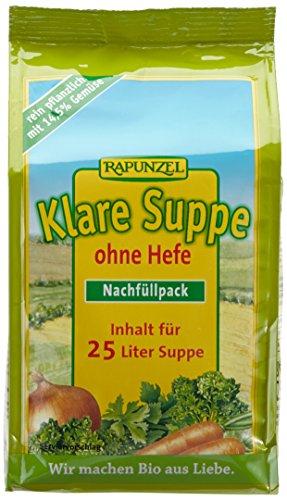 Rapunzel Klare Suppe ohne Hefe Nachfüllpack, 2er Pack (2 x 500 g) - Bio