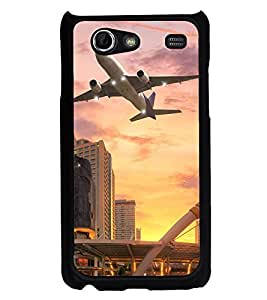 ifasho aeroPlane flying in city Back Case Cover for Samsung Galaxy S Advance i9070