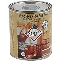 Saman sam-301–1L–Tinte para hormigón a base interior mancha para madera fina para sello, mancha y barniz, antiguo por Saman