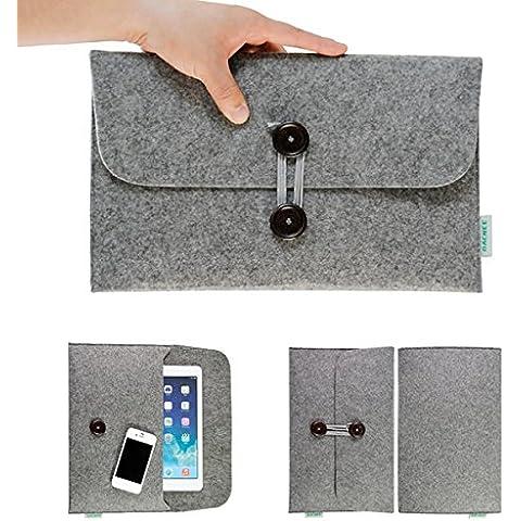 frixie (TM) 10pcs/lot moda fieltro de lana portátil manga caso bolsa para el ordenador portátil Fit para todos los Macbook 11.6