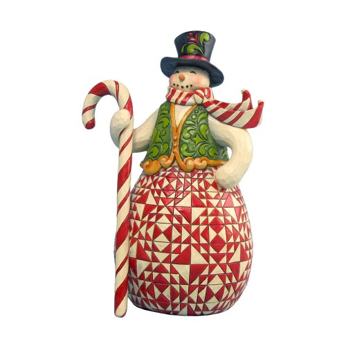 Red/Green Candy Snowman Figurine
