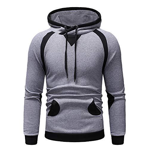 Zegeey Herren schlanke Herbst Winter Sport Pullover Top Patchwork Sweatshirt Outwear ()