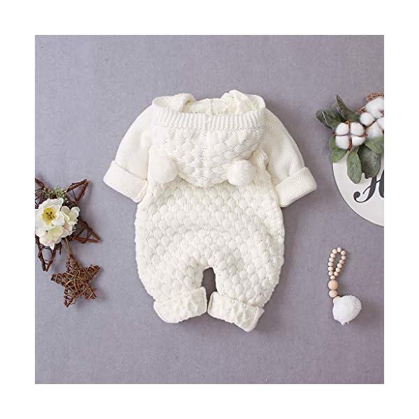 MrTom Traje de Nieve Bebé Niños Niñas Recien Nacido Mono Mameluco con Capucha Invierno Bebés Chaqueta Peleles Ropa de… 4