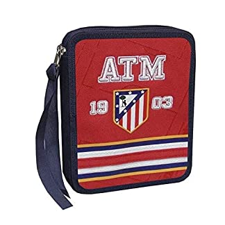 Plumier Atletico Madrid 1903 doble bordado cuadrado