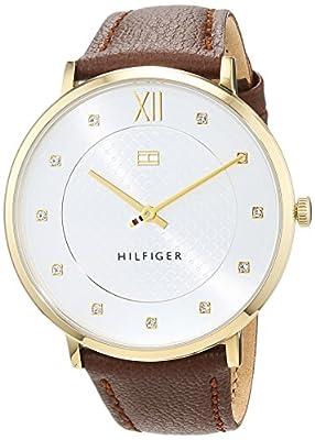 Tommy Hilfiger Reloj Análogo clásico para Mujer de Automático con Correa en Cuero 1781809