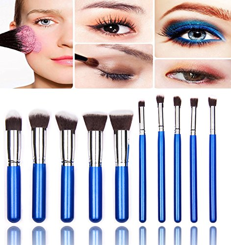 Demarkt Kit Pinceau Maquillage Brosse Professionnel 10PCS Eyebrow Shadow Makeup Blush Fond Teint AntiCerne (E1)