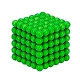 Luminoso Magnetico Palle Diy Barker Palle Magia Cubo Magneti Giocattolo Puzzle Palla 216 Pezzi 5Mm Verde Per Lo Sviluppo Di Intelligenza Pazienza, Sollievo Dallo Stress, Decorazione, Compleanno, Regalo