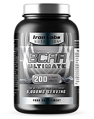 BCAA Ultimate   5,000mg BCAAs Serving   The Ultimate BCAA Supplement   40 Servings (200 BCAA Tablets) from Iron Labs Nutrition