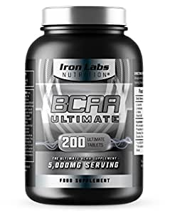 BCAA Ultimate | 5,000mg BCAAs Serving | The Ultimate BCAA Supplement | 40 Servings (200 BCAA Tablets)