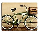 Liili Mauspad Naturkautschuk Mousepad im Retro-Stil Sepia Bild von einem Vintage Beach Cruiser Fahrrad mit Holzkiste Bild-ID 21576496