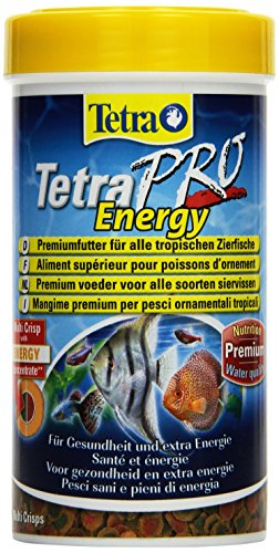 Tetra Pro Energy Premiumfutter (für alle tropischen Zierfische, mit Energiekonzentrat für extra Wohlbefinden, Vitaminstabilität und hoher Nährwert, konzentrierter Nährstoffgehalt Omega-3 Fettsäuren), 250 ml Dose