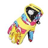 Kinder Skifahren Handschuhe Skihandschuhe Schnee Handschuhe Outdoor Handschuhe Sport Handschuhe Winter Handschuhe für Kinder (Gelb)