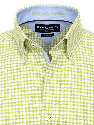 CASAMODA Messieurs Chemise d'affaires 006290 manches longues Coupe classique Vert