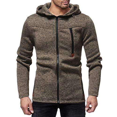 ❤️Manteau Veste Homme Amlaiworld Hommes Automne Hiver Sweat à Capuche à Manches Longues Pull Manteau Haut Sweater Manteau Pull