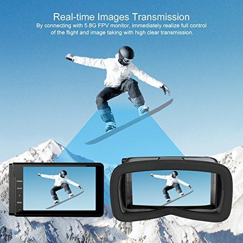 UDIRC Drone VR con Cámara Profesional HD  Drone RC Wifi  Función de Suspensión de Altitud  Modo sin Cabeza  Alarma de Fuera de Vuelo   Monitor de Pantalla FPV LCD 5.8Ghz