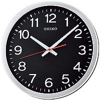 ساعة حائط بعقارب من سيكو، QXA732S - فضي واسود