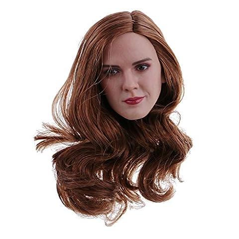 Gazechimp 1/6 Langes Haar Weiblicher Kopf Sculpt Für 12 Zoll Action Figur