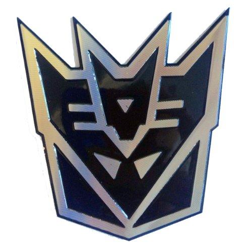 Transformers?Decepticon Schwarz 3D Laser Reflektierende Auto Emblem Aufkleber Badge Aufkleber?kleine Größe (Schwarzer Transformers-emblem)