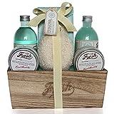 Gloss - caja de baño, caja de regalo para mujeres - Baño de basura - Fresh - Aloe Vera y Menta - 6 piezas