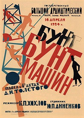 World of Art Kunst-Poster, Vintage-Stil, Konstruktivismus, Motiv The Riot of Machines - A Play in 4...