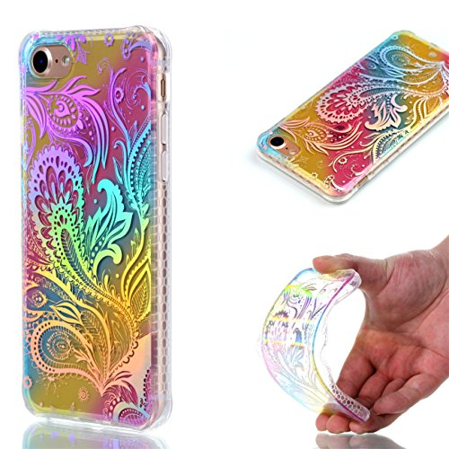 Apple iPhone 8 4.7 Hülle, Voguecase Schutzhülle / Case / Cover / Hülle / Plating TPU Gel Skin (Dreieck) + Gratis Universal Eingabestift Pteris