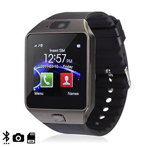 DAM TEKKIWEAR. Smartwatch Ártemis BT Black con SIM, cámara y Slot Micro SD .4x1x5,5 cm. Color: Negro