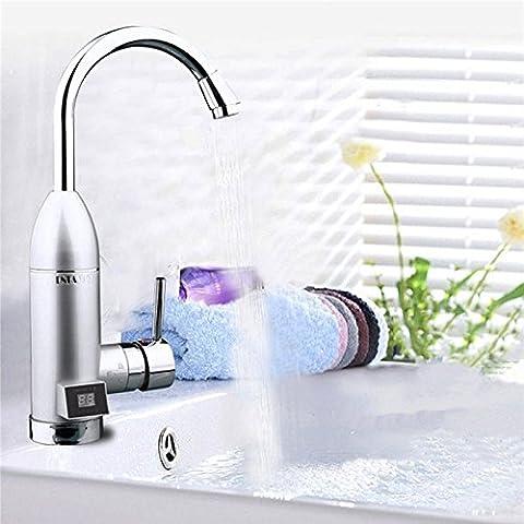 tougmoo domestique 1instantané Chauffe-eau électrique Chauffage rapide robinet robinets d'eau chaude chauffe robinet LED affichage de température au Plug