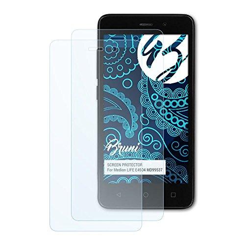 Bruni Schutzfolie für Medion Life E4504 MD99537 Folie, glasklare Bildschirmschutzfolie (2X)