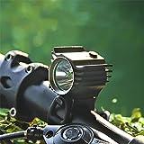 Amadoierly Luci per bicicletta USB Luce per bicicletta Mountain Bike Equipaggiamento per le luci Luci a doppia testa Accessori per biciclette da guida notturna, nero