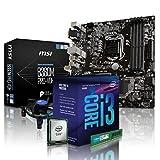 PC Aufrüstkit Intel, i3-8100 4x3.6 GHz, 8GB DDR4, Intel UHD Grafik 630-1GB, Mainboard Bundle, Tuning Kit, fertig montiert, Spiele Office zusammengestellt in Deutschland Desktop Rechner