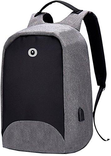 Toy Bags Mochila para Portátil Multifunción/Mochila para Laptop con Puerto USB, Negro