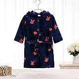 WEILIVE Gemütlich Kinder Kid Boy Girl verdickte Flanell Hooded Bademantel Heart Pattern Bademantel Nightgown Nachtwäsche Handtuch-Kleid