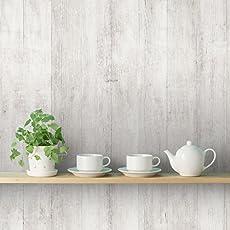 DeStudio 'Wooden White Style' Wallpaper Sticker