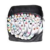 80 Farbige Stift Fettige - Aquarellfarbe Art Marker - Lebendige Farben - Professionelle Zubehör - Graffiti Pens für Studenten Manga Kunstler Sketch Marker Stifte Set Mit (80 Zweig weißen)